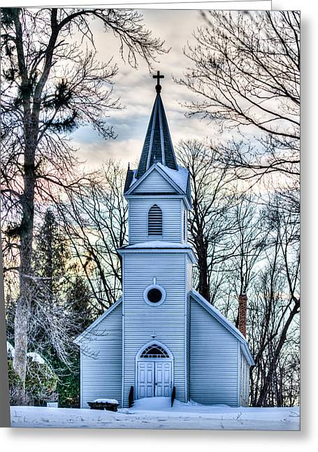 Rural Images Greeting Cards - Maria Chapel Greeting Card by Paul Freidlund