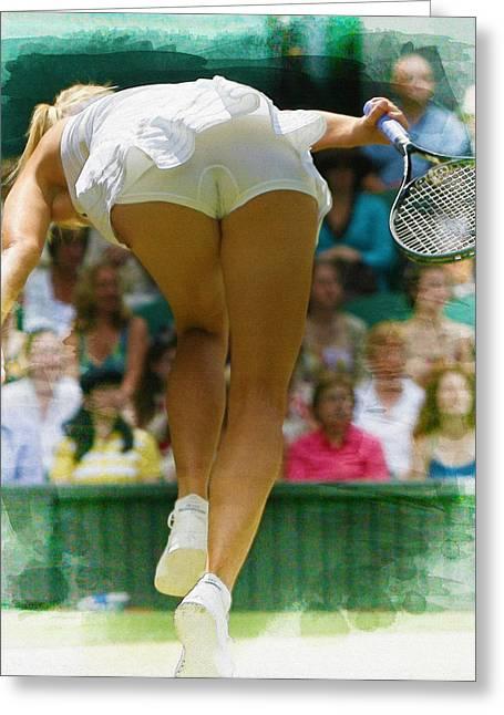 Wta Digital Art Greeting Cards - Maria Sharapova -  Wimbledon Championships Greeting Card by Don Kuing