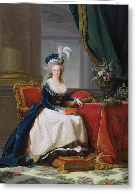 Recently Sold -  - 18th Century Greeting Cards - Marie Antoinette Greeting Card by Elisabeth Louise Vigee-Lebrun