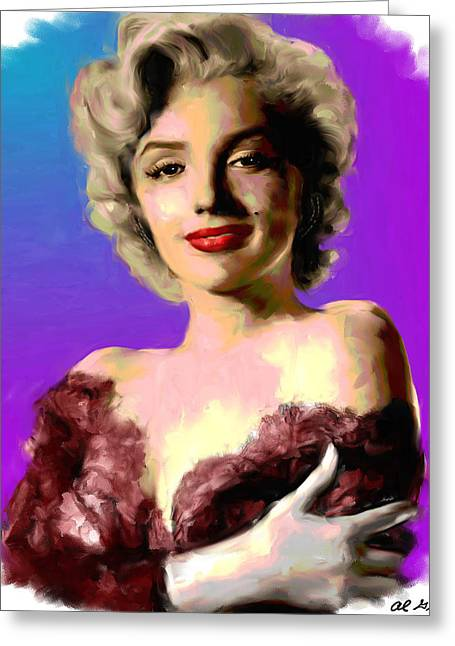 Allen Glass Greeting Cards - Marilyn Monroe Greeting Card by Allen Glass
