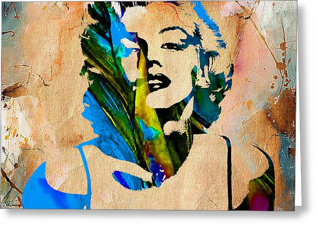Den Greeting Cards - Marilyn Monroe Painting Greeting Card by Marvin Blaine