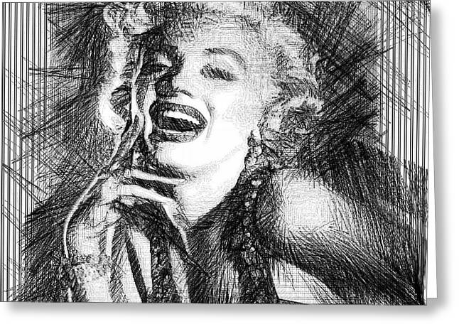 How To Marry A Millionaire Greeting Cards - Marilyn Monroe - The One and Only  Greeting Card by Rafael Salazar