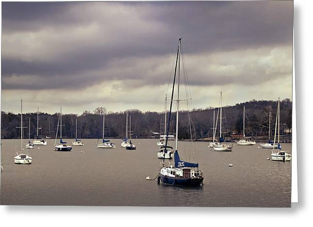 Sailboat Photos Greeting Cards - Marina Greeting Card by Steven  Michael