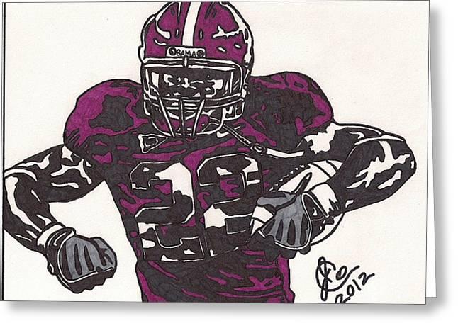 University Of Alabama Drawings Greeting Cards - Mark Ingram Greeting Card by Jeremiah Colley