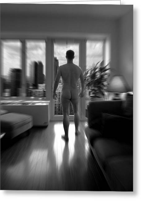 Artistic Nude Greeting Cards - Mark Greeting Card by Mark Ashkenazi