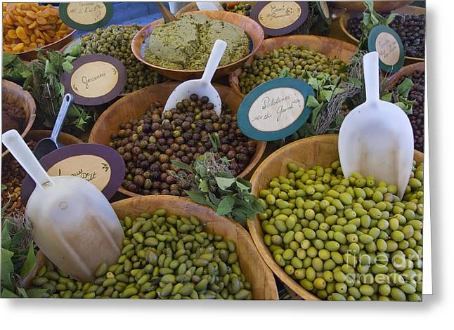 Saint-remy De Provence Greeting Cards - Market, France Greeting Card by John Shaw