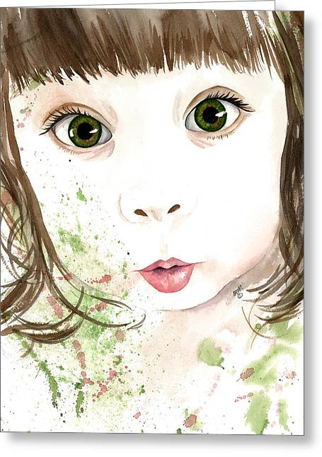 Button Nose Greeting Cards - Embrace Wonder Greeting Card by Michal Madison