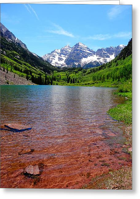 Peaceful Scene Greeting Cards - Maroon Bells  Greeting Card by Dan Sproul