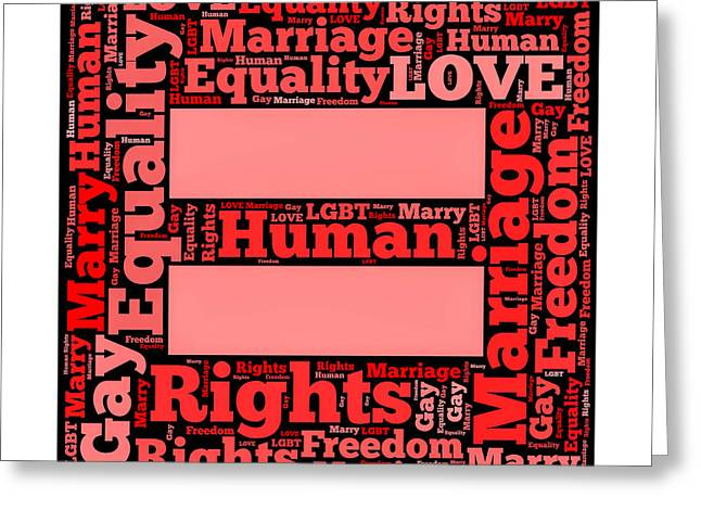 Marriage Equality For All Greeting Card by Amy Cicconi