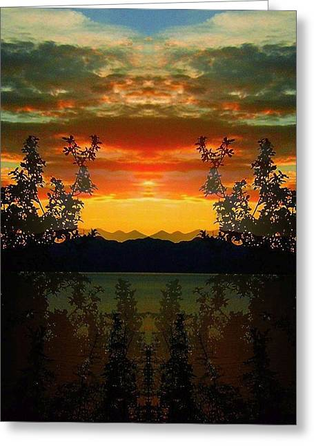 Bunt Greeting Cards - Marsh Lake - Yukon Greeting Card by Juergen Weiss