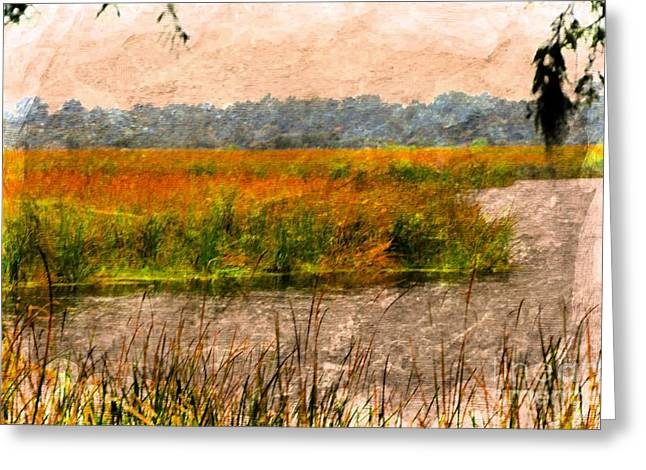 Struckle Greeting Cards - Marsh Land Greeting Card by Kathleen Struckle