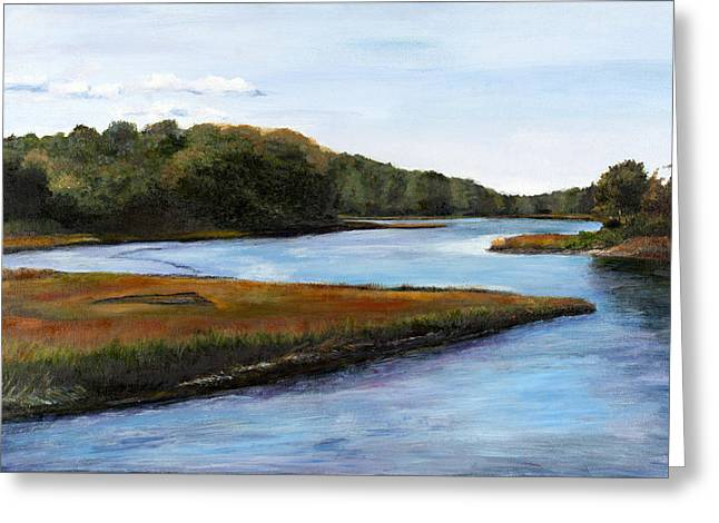River View Pastels Greeting Cards - Marshside Greeting Card by Cindy Plutnicki