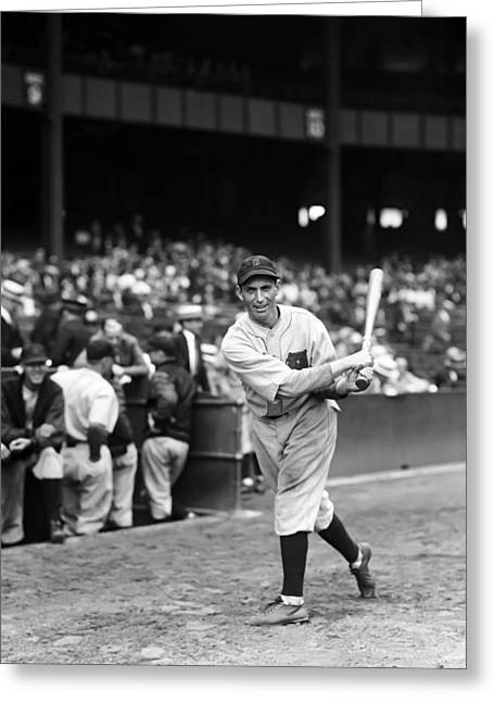 Baseball Bat Greeting Cards - Martin J. Marty McManus Greeting Card by Retro Images Archive