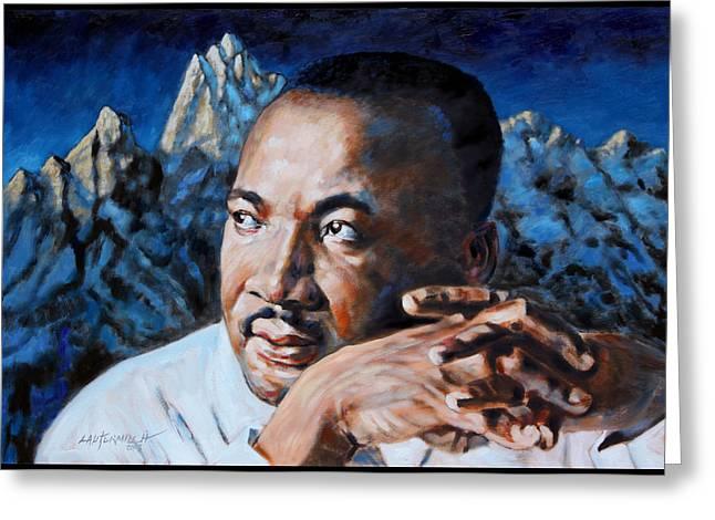 Civil Rights Leader Greeting Cards - Martin Luther King Greeting Card by John Lautermilch