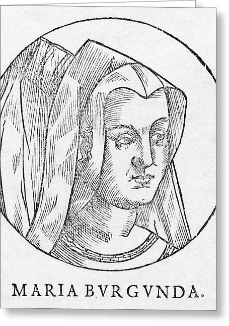 Duchess Greeting Cards - Mary, Duchess Of Burgundy Greeting Card by Middle Temple Library