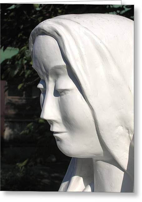 Mary Sculptures Greeting Cards - Mary 2009 Greeting Card by Karl Leonhardtsberger