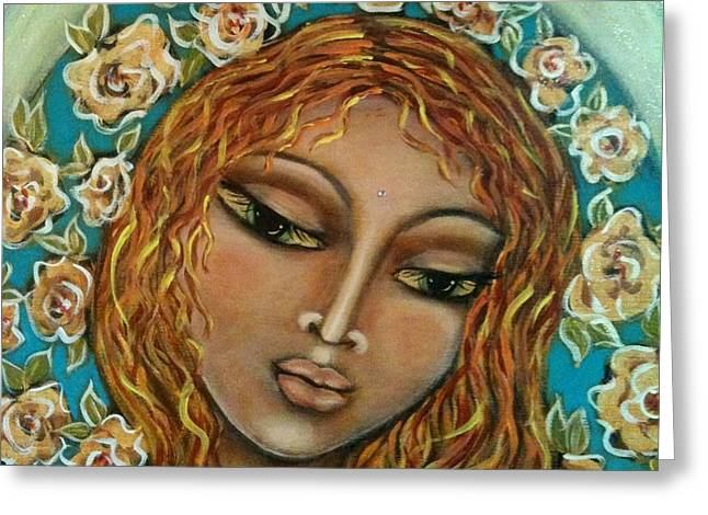 The Sacred Feminine Greeting Cards - Mary Mary Greeting Card by Maya Telford