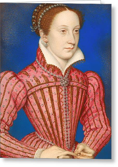 Queen Mary Paintings Greeting Cards - Mary Queen of Scots Greeting Card by Francois Clouet