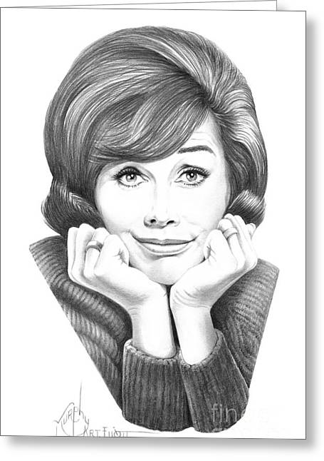 Mary Tyler Moore Greeting Card by Murphy Elliott