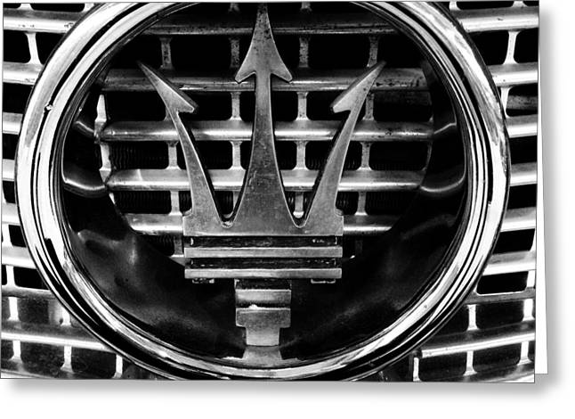 Chrome Greeting Cards - Maserati Greeting Card by Les Cunliffe