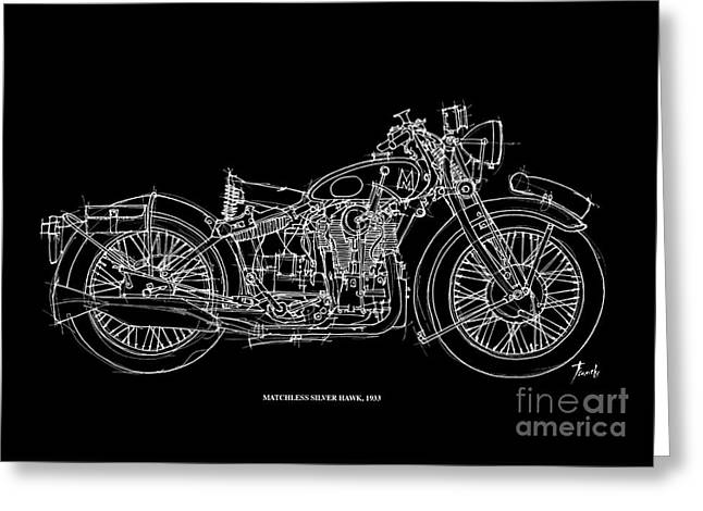 Matchless Silver Hawk 1933 Greeting Card by Pablo Franchi