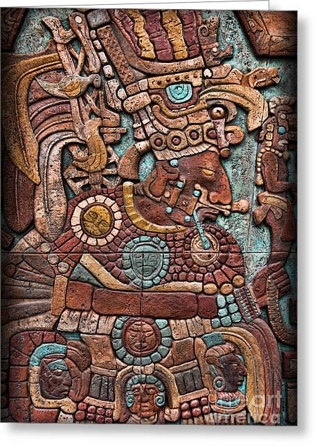Hieroglyph Greeting Cards - Mayan hieroglyphs Greeting Card by Lee Dos Santos