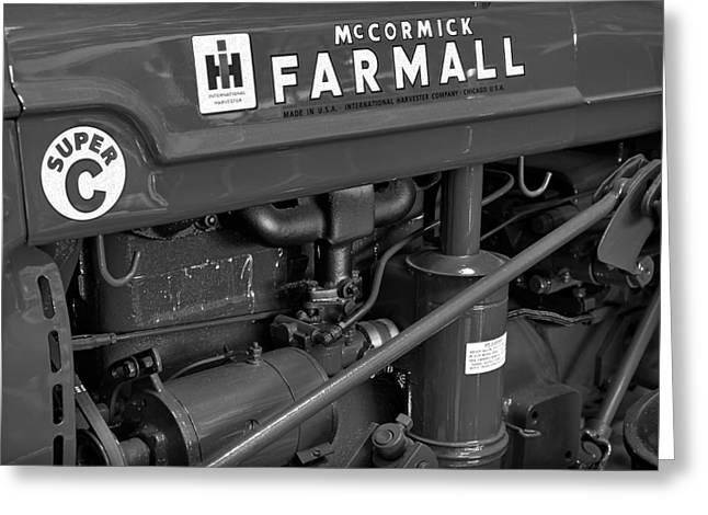 Mercantilism Photographs Greeting Cards - Mc Cormick Farmall Super C Greeting Card by Susan Candelario