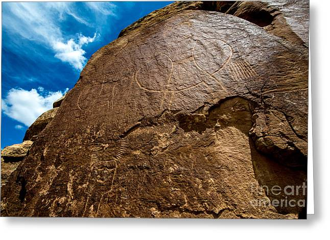 West Fork Greeting Cards - McConkie Ranch Petroglyph - Utah  Greeting Card by Gary Whitton