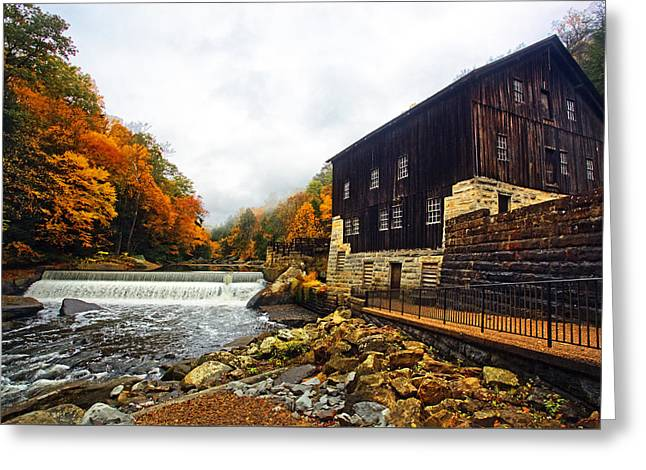 Grist Mill Greeting Cards - Mcconnells Mill  Greeting Card by Marcia Colelli