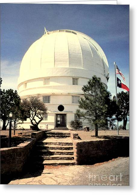 University Of Texas At Austin Greeting Cards - McDonald Observatory Greeting Card by Ruth  Housley