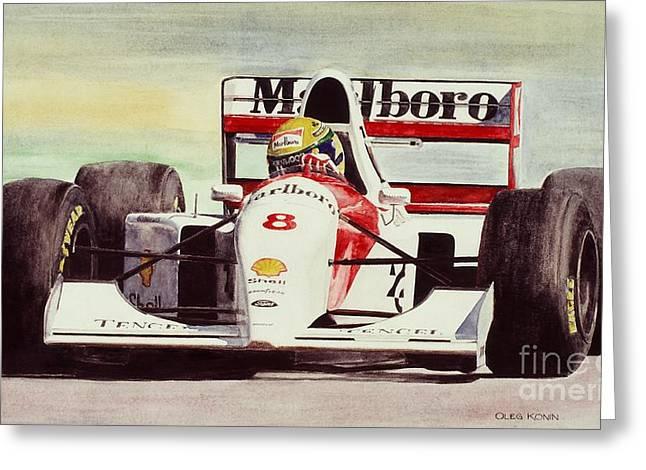 Automotive Art Greeting Cards - McLaren Senna Greeting Card by Oleg Konin