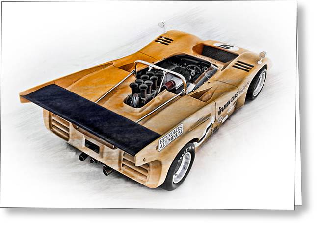 Big Block Chevy Greeting Cards - McLaren M8D Greeting Card by Peter Chilelli