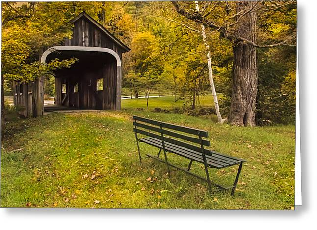Grafton Vermont Greeting Cards - McWilliams covered bridge Greeting Card by Vance Bell