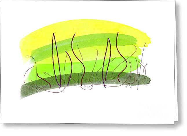 Hike Drawings Greeting Cards - Meadow Greeting Card by Chani Demuijlder