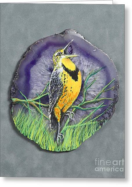 State Of Montana Mixed Media Greeting Cards - Meadow Soloist I Greeting Card by Bob Williams