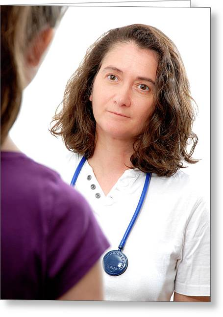 Medical Consultation With Teenage Girl Greeting Card by Aj Photo