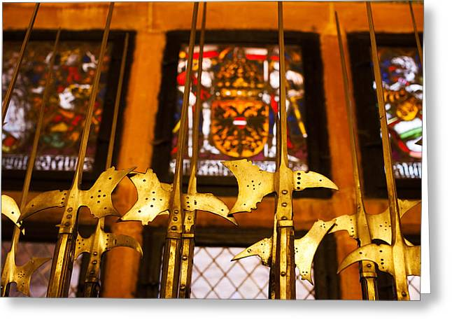 Route Des Vins Greeting Cards - Medieval Armory, Chateau Du Greeting Card by Panoramic Images