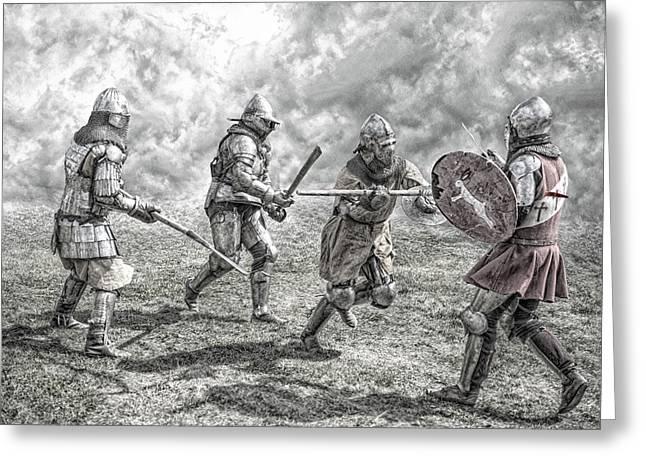 Period Clothing Greeting Cards - Medieval battle Greeting Card by Jaroslaw Grudzinski