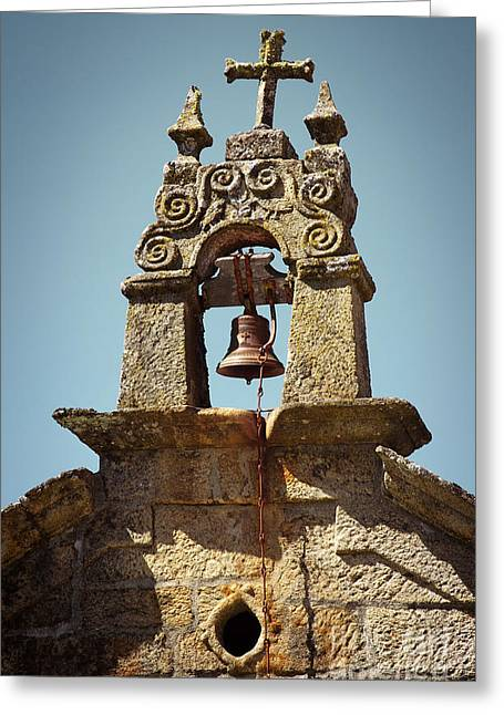 Sacred Photographs Greeting Cards - Medieval Campanile  Greeting Card by Carlos Caetano