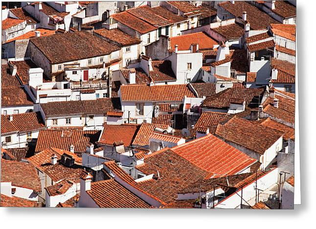Medieval town rooftops Greeting Card by Jose Elias - Sofia Pereira