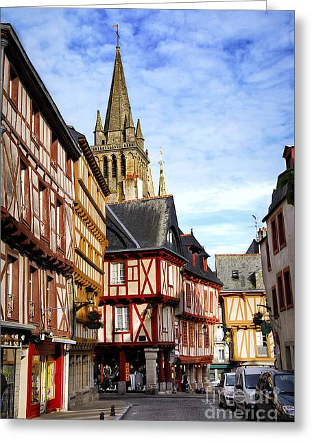 European City Greeting Cards - Medieval Vannes France Greeting Card by Elena Elisseeva