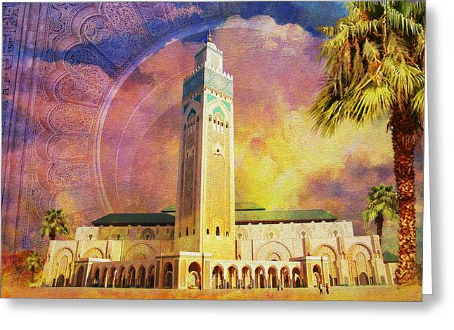 Medina of Marakkesh Greeting Card by Catf