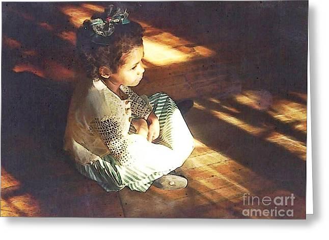 Sarah Loft Greeting Cards - Meditation Greeting Card by Sarah Loft