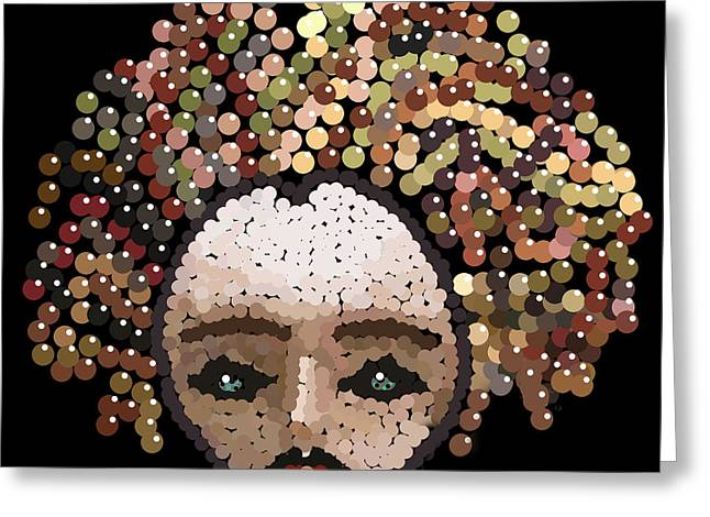 R Allen Swezey Greeting Cards - Medusa Bedazzled After Greeting Card by R  Allen Swezey