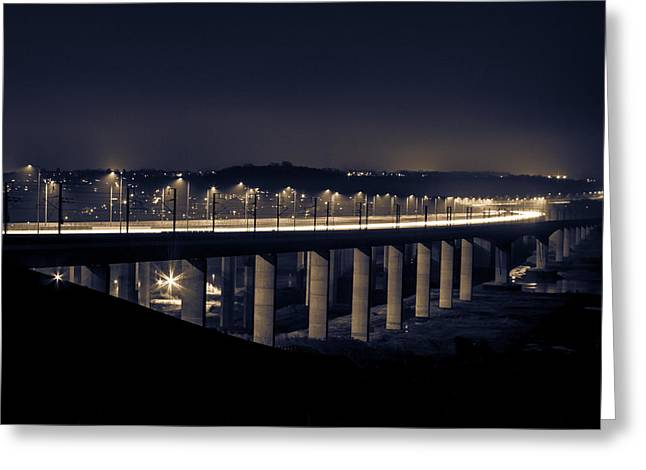 Medway Greeting Cards - Medway Bridge  Greeting Card by Ian Hufton