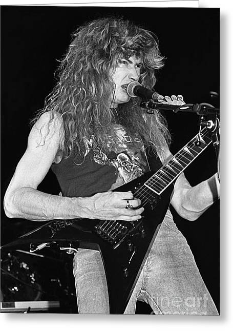 Megadeth Greeting Cards - Megadeth Greeting Card by Front Row  Photographs