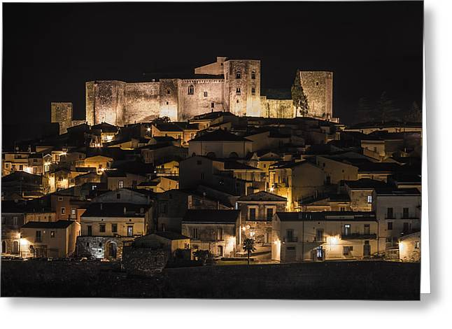 Frederick Pyrography Greeting Cards - Melfi by night Greeting Card by Gianluca Pisano