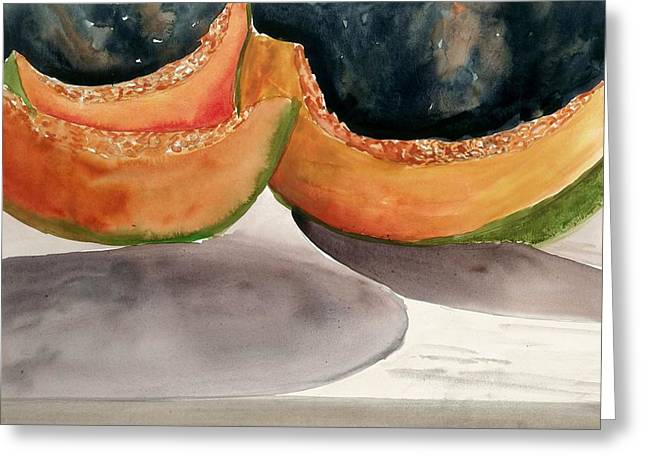 Melon Paintings Greeting Cards - Melons Greeting Card by Steven Schultz