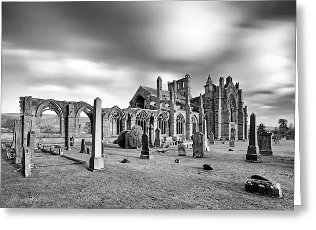 Scottish Scenic Greeting Cards - Melrose Abbey Greeting Card by Grant Glendinning