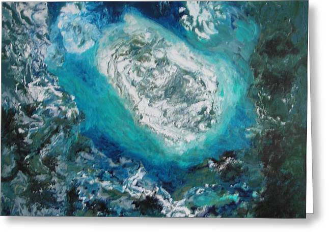 Aeriel View Paintings Greeting Cards - Melting Ice Greeting Card by Bruce Brand
